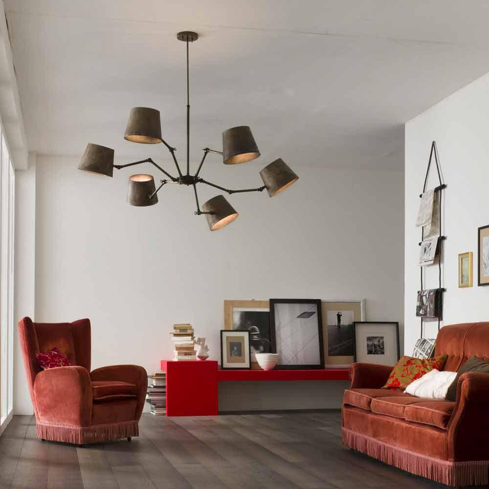 lampadario stile industriale in ferro e ottone reporter il fanale 3 Résultat Supérieur 15 Beau Lampe Suspendue Industrielle Galerie 2017 Iqt4