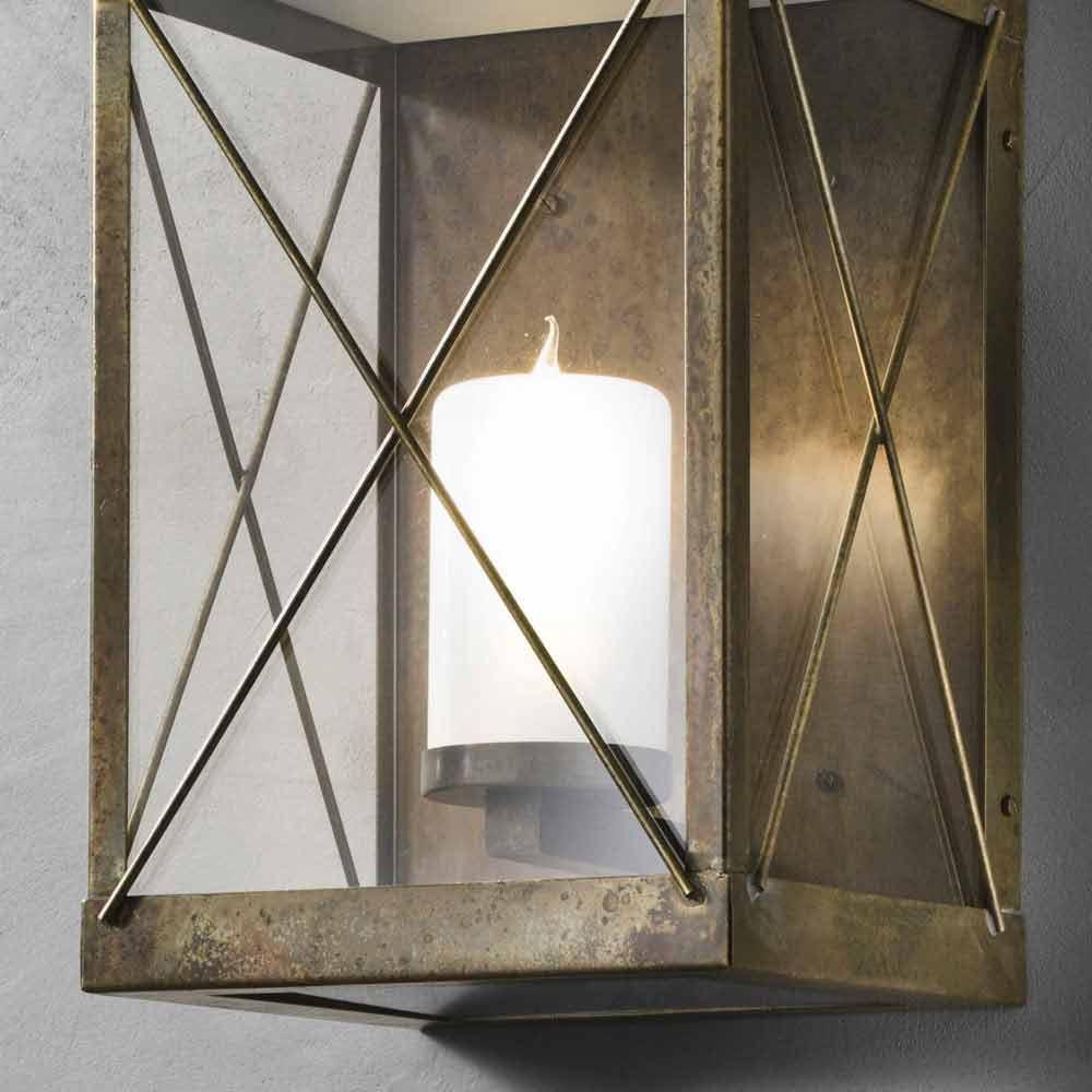 Lanterne de jardin en fer ou laiton faite en italie il fanale - Lanterne da esterno in ferro battuto ...