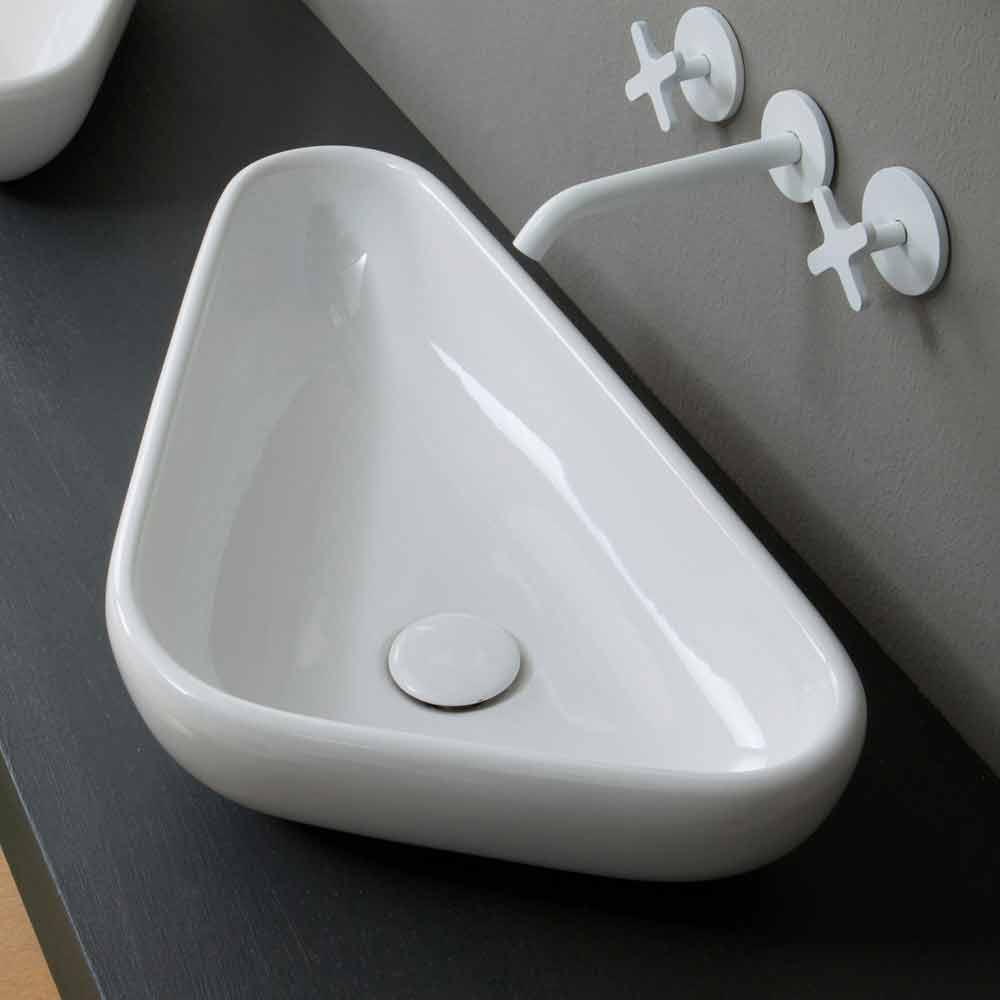 lavabo d 39 appui de design moderne en c ramique fait en italie sofia. Black Bedroom Furniture Sets. Home Design Ideas