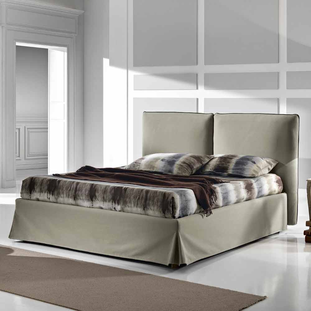 lit double rembourr design moderne avec coffre 160x190 200 cm nice. Black Bedroom Furniture Sets. Home Design Ideas