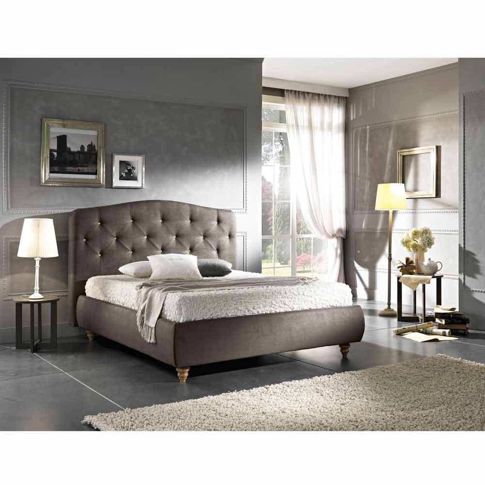 lit double rembourr avec coffre 160x190 200cm leone design moderne. Black Bedroom Furniture Sets. Home Design Ideas