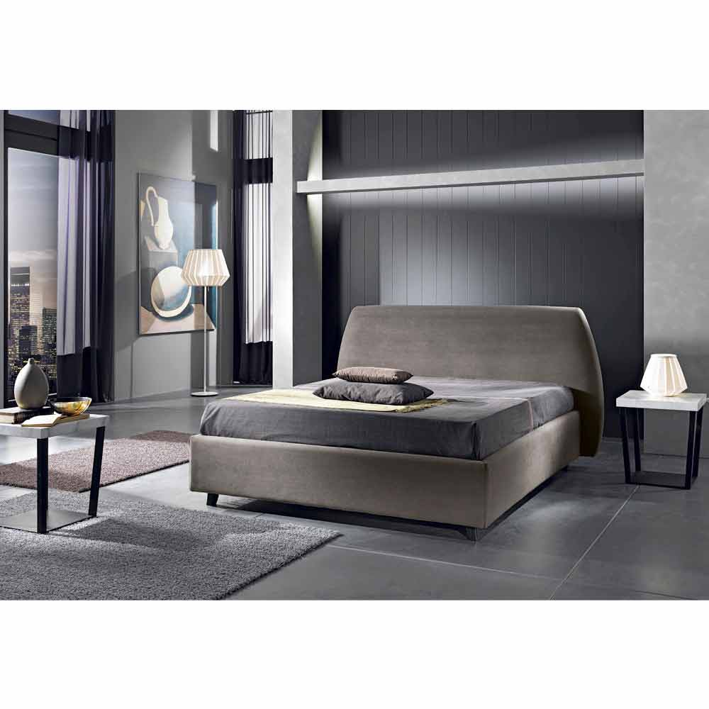 lit double rembourr avec coffre de design moderne reby 160x190 200 cm. Black Bedroom Furniture Sets. Home Design Ideas