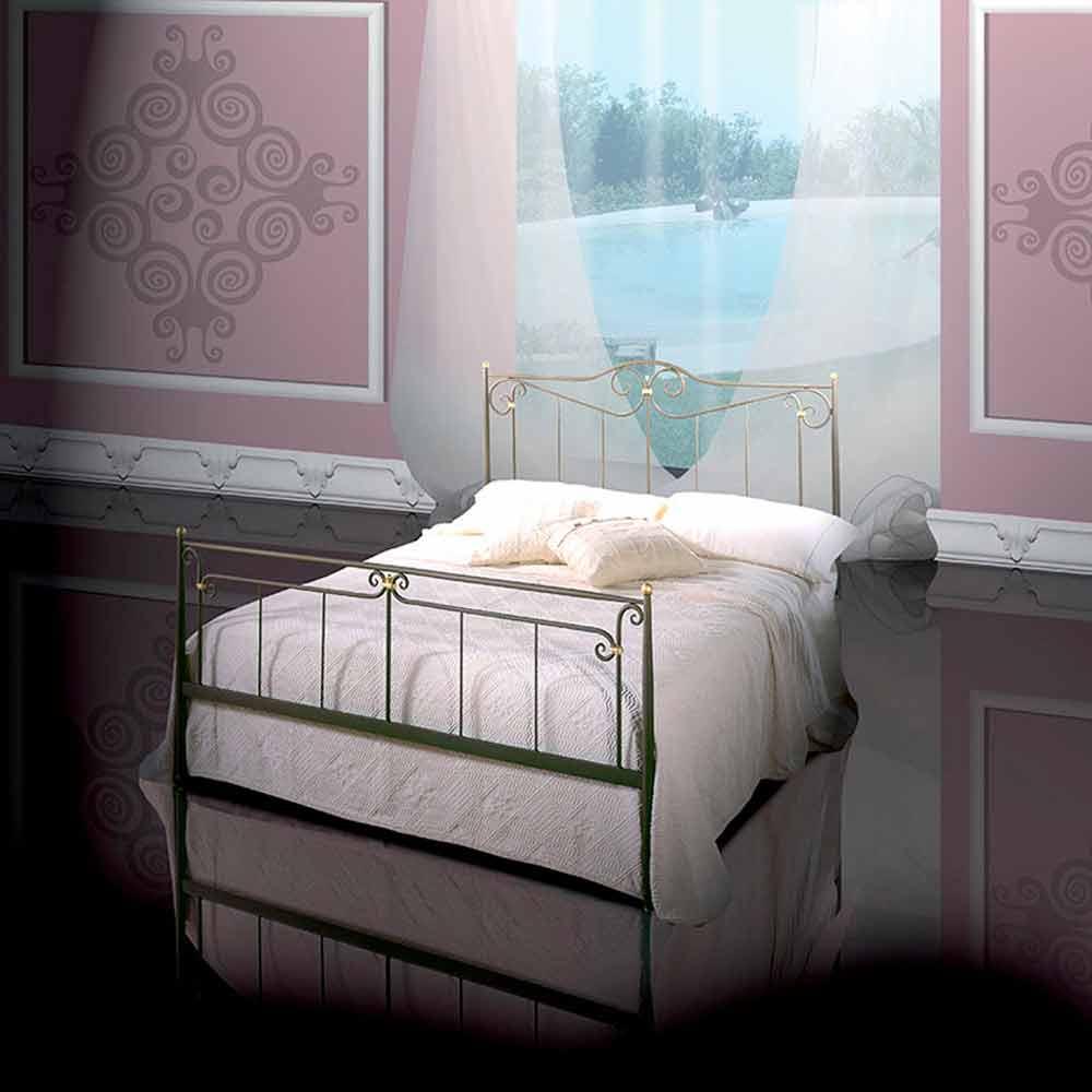 lit deux personnes en fer forg auriga fait la main en italie. Black Bedroom Furniture Sets. Home Design Ideas