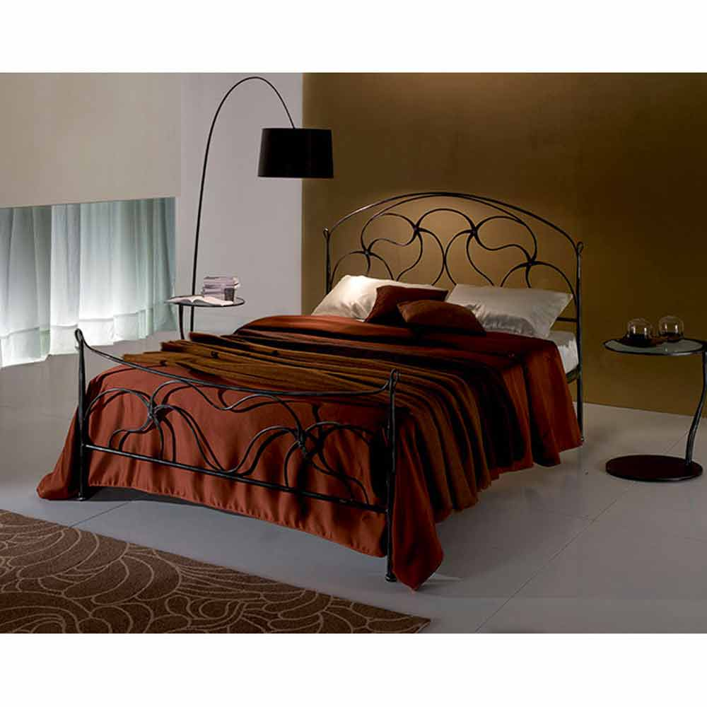 lit deux personnes en fer forg cigno fait la main en italie. Black Bedroom Furniture Sets. Home Design Ideas