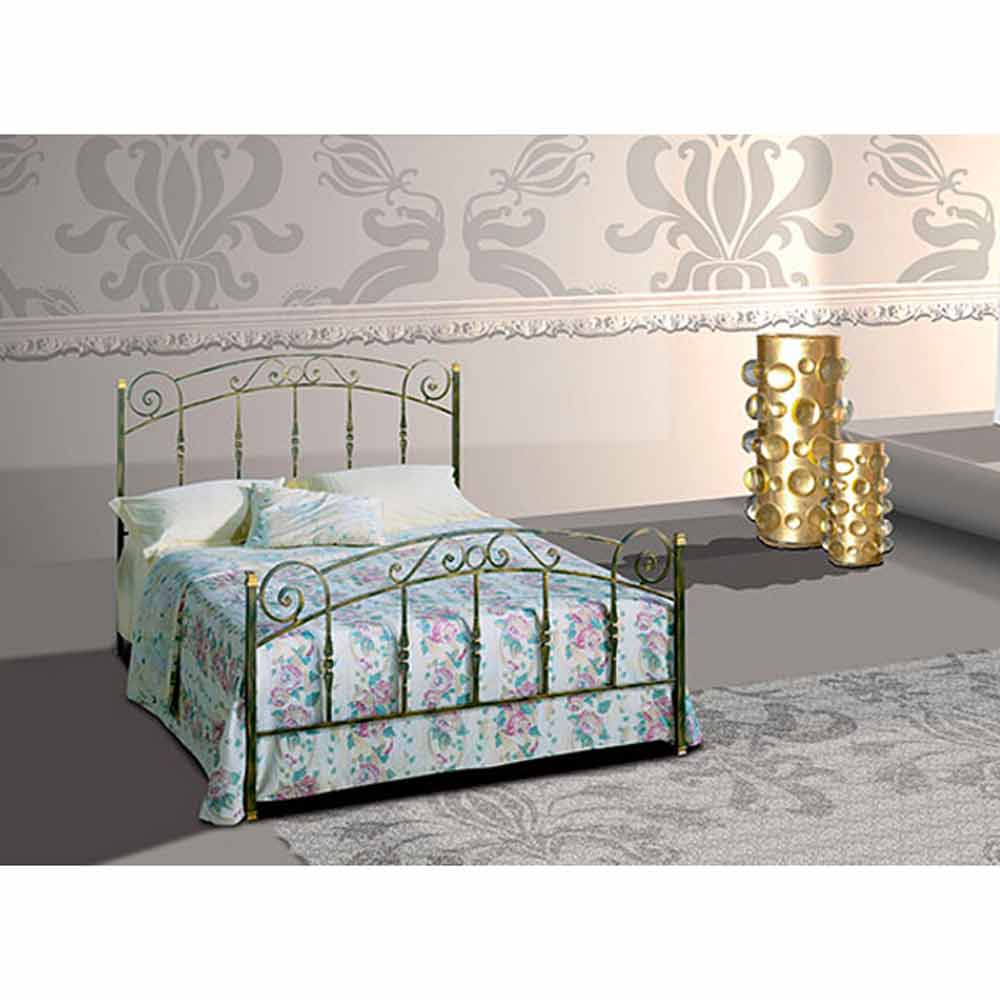 lit double en fer forg diamante fait la main en italie. Black Bedroom Furniture Sets. Home Design Ideas