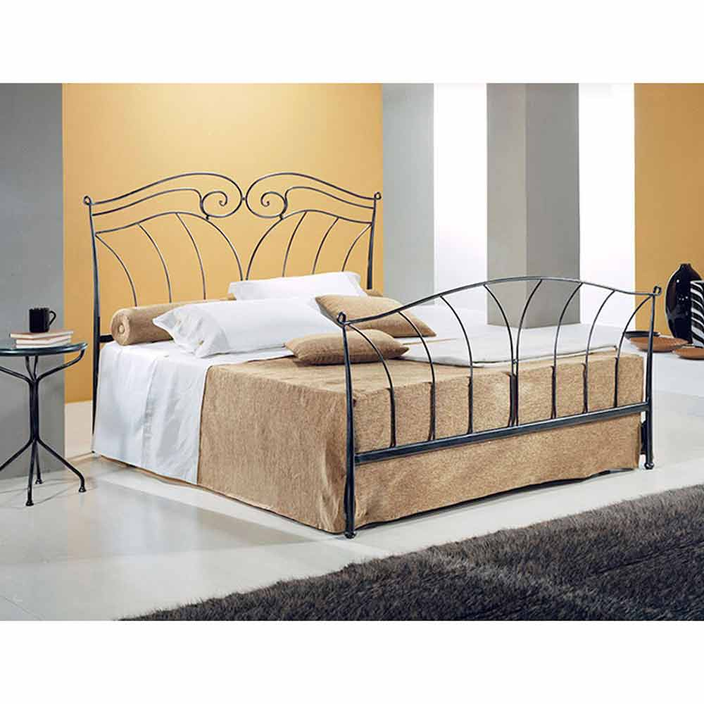 lit double en fer forg nettuno fait la main en italie. Black Bedroom Furniture Sets. Home Design Ideas