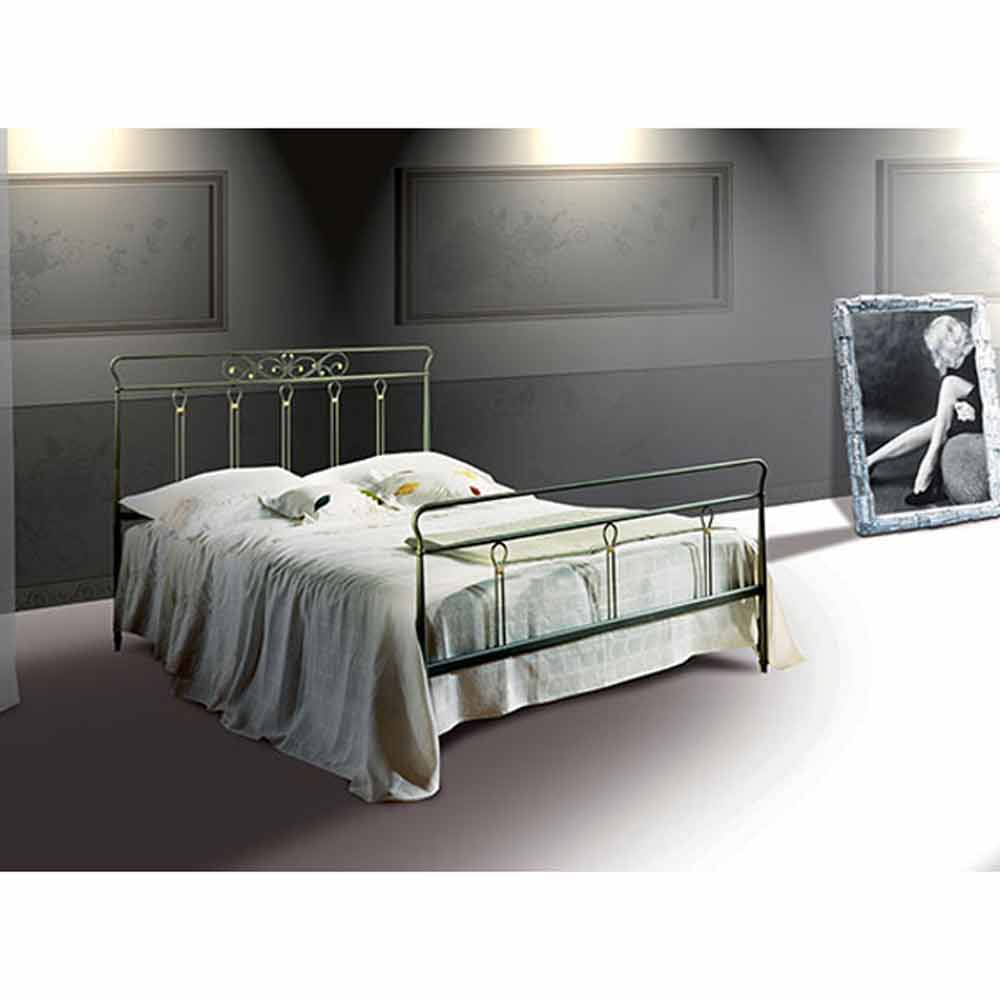 lit double en fer forg pan fait la main en italie. Black Bedroom Furniture Sets. Home Design Ideas