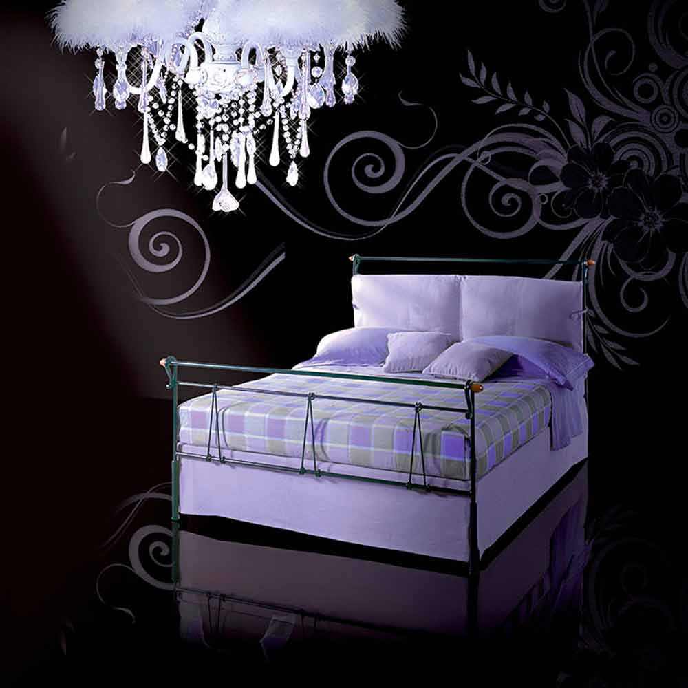 lit deux personnes en fer forg perseo fait la main en italie. Black Bedroom Furniture Sets. Home Design Ideas