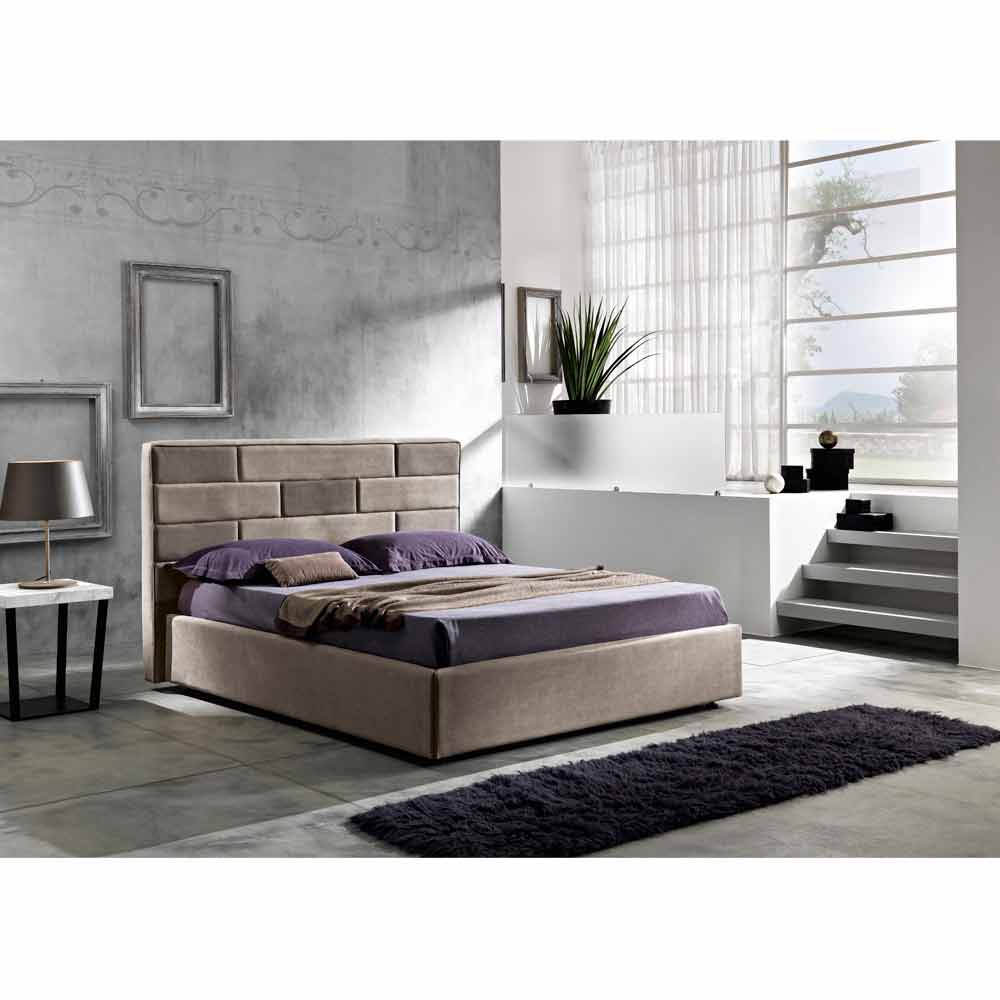 lit double de design moderne avec coffre 160x190 200 cm gin. Black Bedroom Furniture Sets. Home Design Ideas
