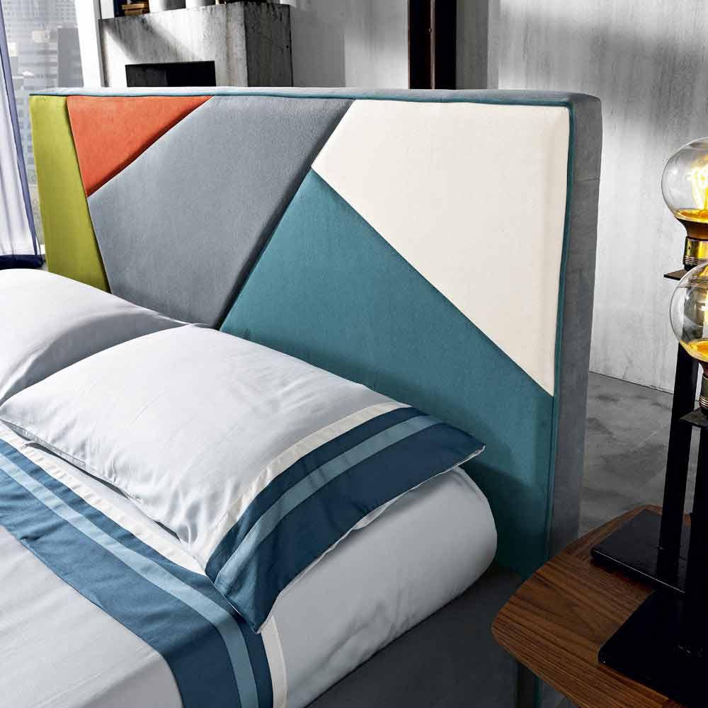 lit double rembourr de design moderne avec coffre 160x190. Black Bedroom Furniture Sets. Home Design Ideas