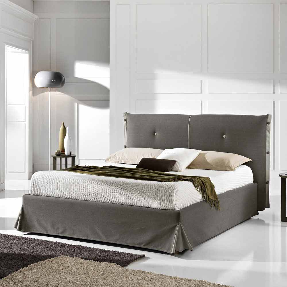 lit double d houssable avec coffre 160x190 200 cm roby fait en italie. Black Bedroom Furniture Sets. Home Design Ideas