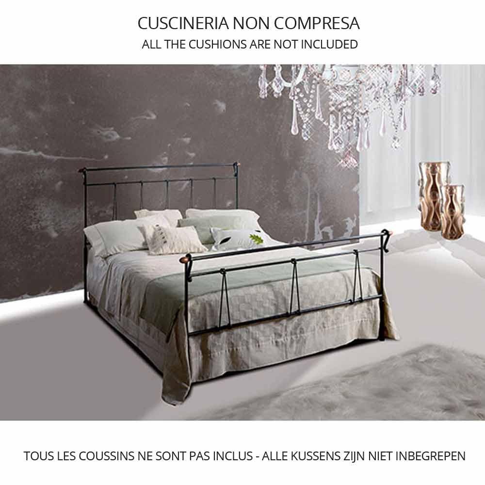 lit une place et demie en fer forg perseo fait la main. Black Bedroom Furniture Sets. Home Design Ideas