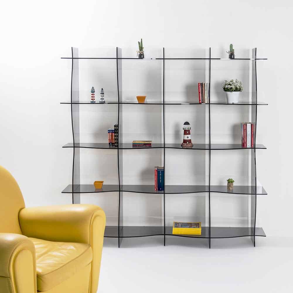 biblioth que couleur fum de design moderne pam faite en italie biblioth ques et tag res. Black Bedroom Furniture Sets. Home Design Ideas