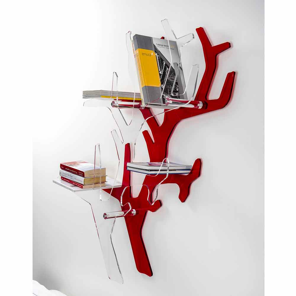 tag re murale rouge de design moderne carol faite en italie biblioth ques et tag res. Black Bedroom Furniture Sets. Home Design Ideas