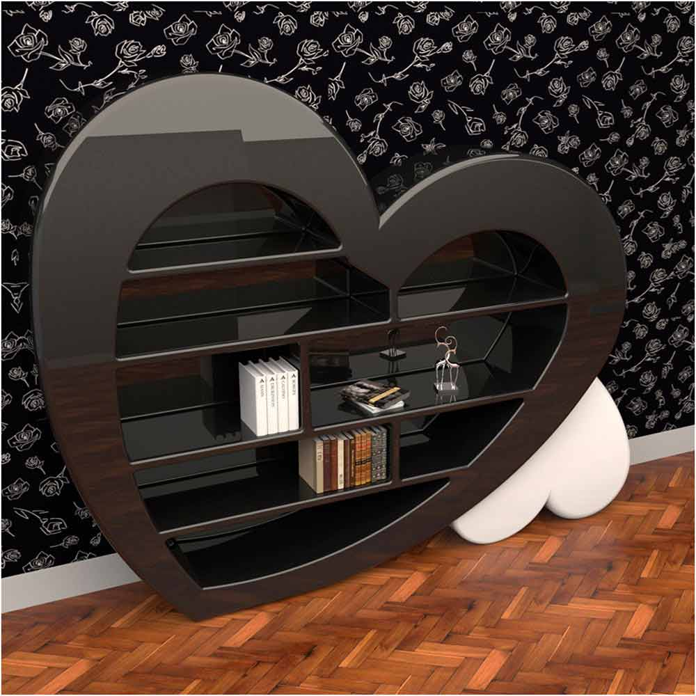 biblioth que de design en adamantx fabriqu e en italie cuore. Black Bedroom Furniture Sets. Home Design Ideas