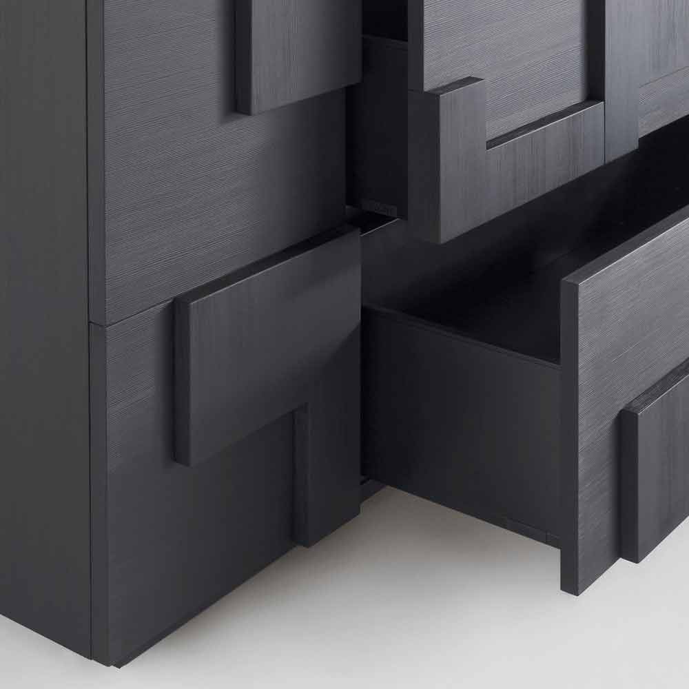 Meuble buffet de design moderne en bois larice azalea for Meuble design moderne