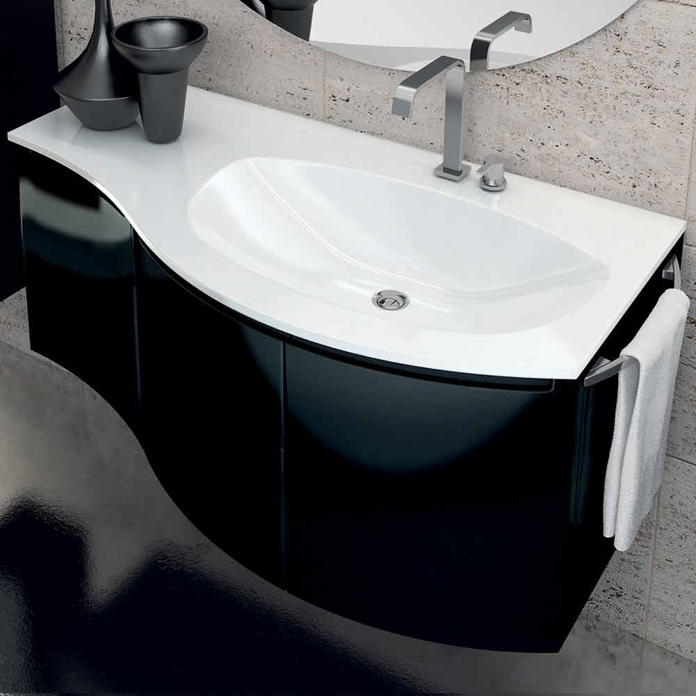 meuble de salle de bain moderne avec lavabo trois portes. Black Bedroom Furniture Sets. Home Design Ideas