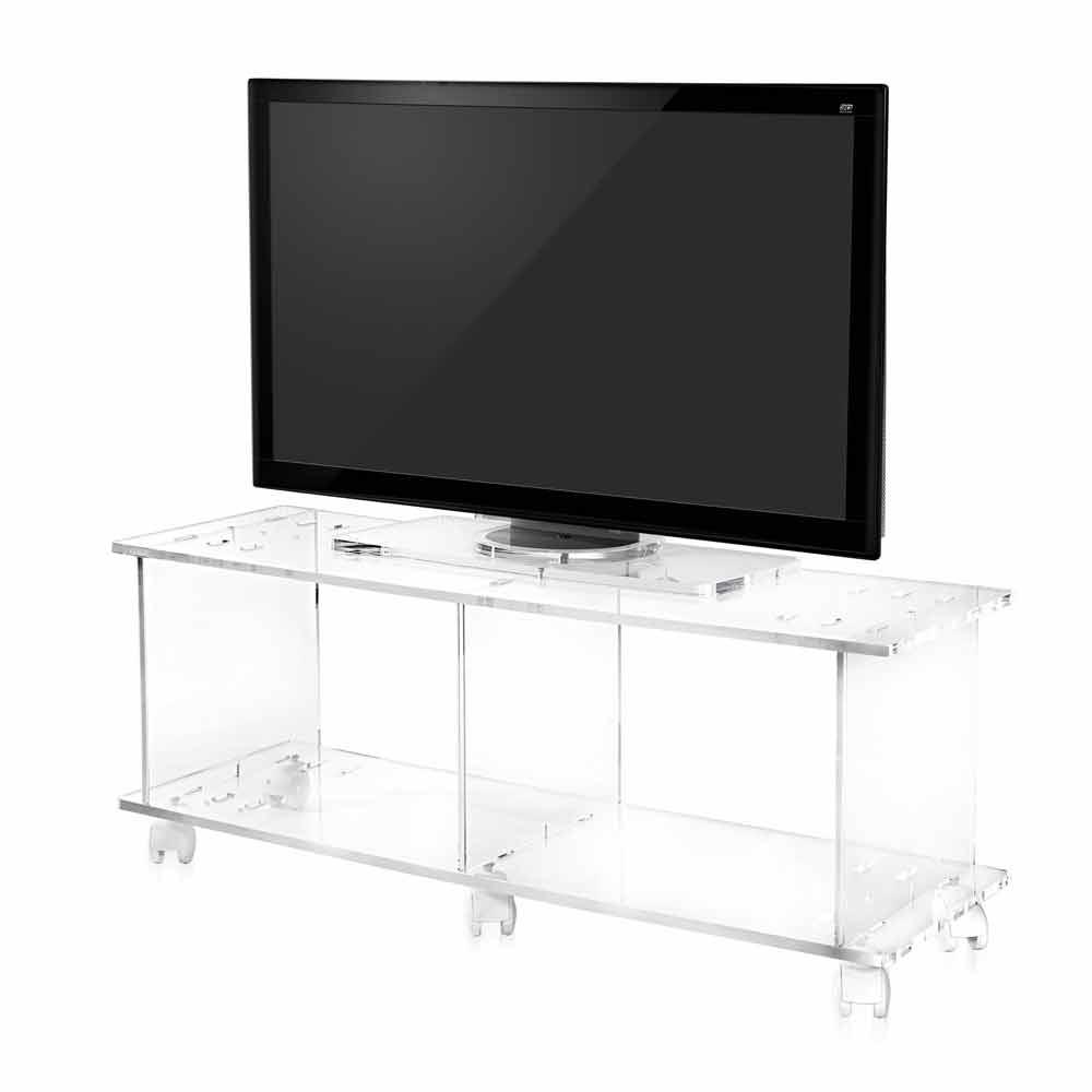 Meuble TV de design moderne en plexiglas transparent Mago - Meubles ...