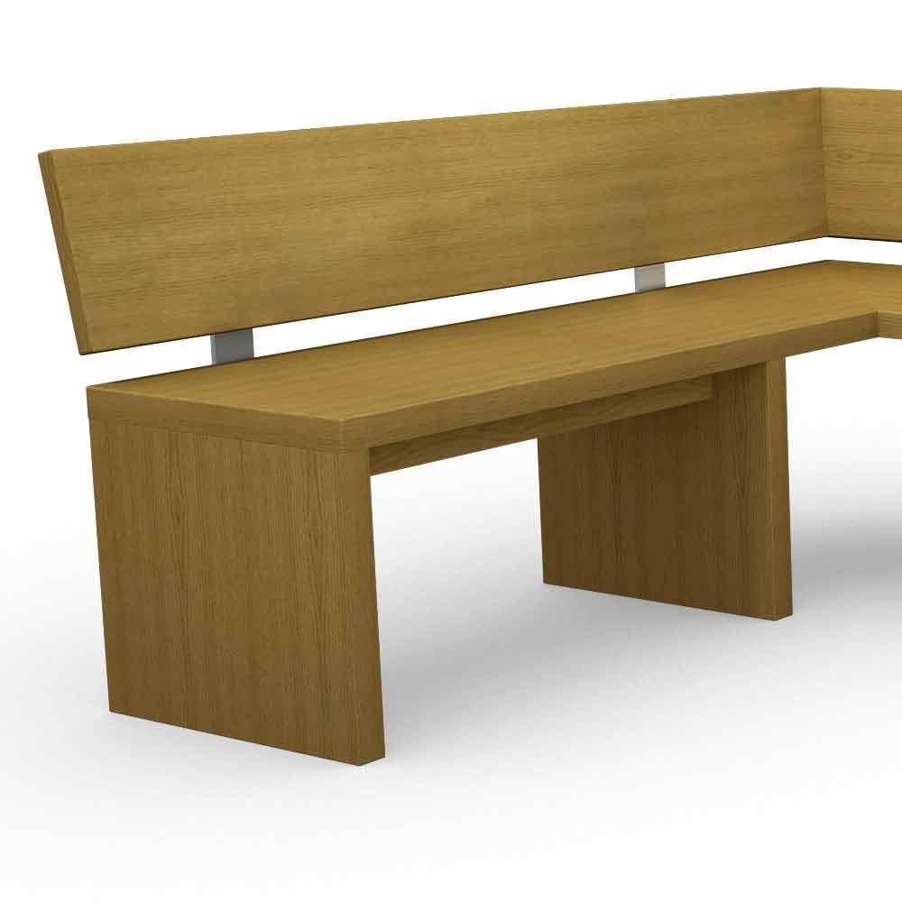 banc d 39 angle moderne en bois de ch ne fabriqu en italie misty. Black Bedroom Furniture Sets. Home Design Ideas