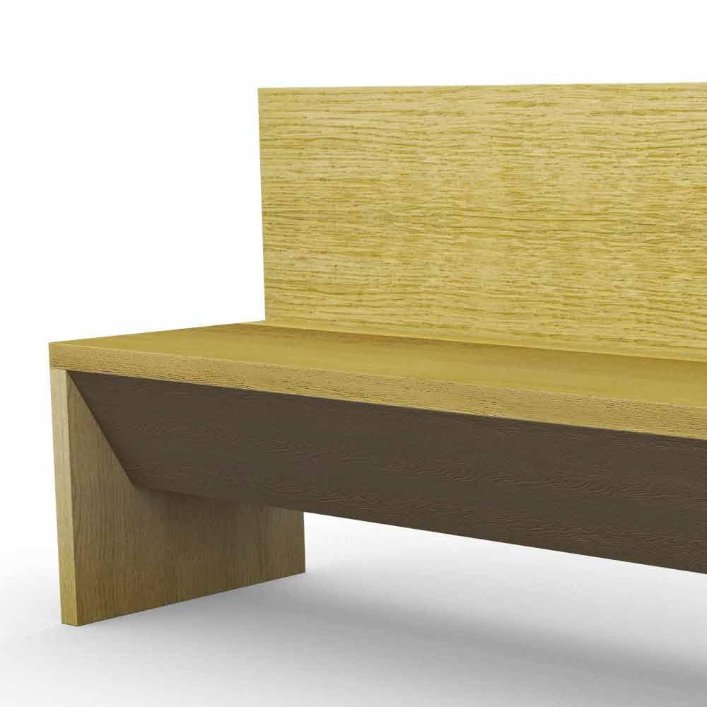 banc moderne avec r cipient en bois de ch ne fabriqu en italie cassy. Black Bedroom Furniture Sets. Home Design Ideas
