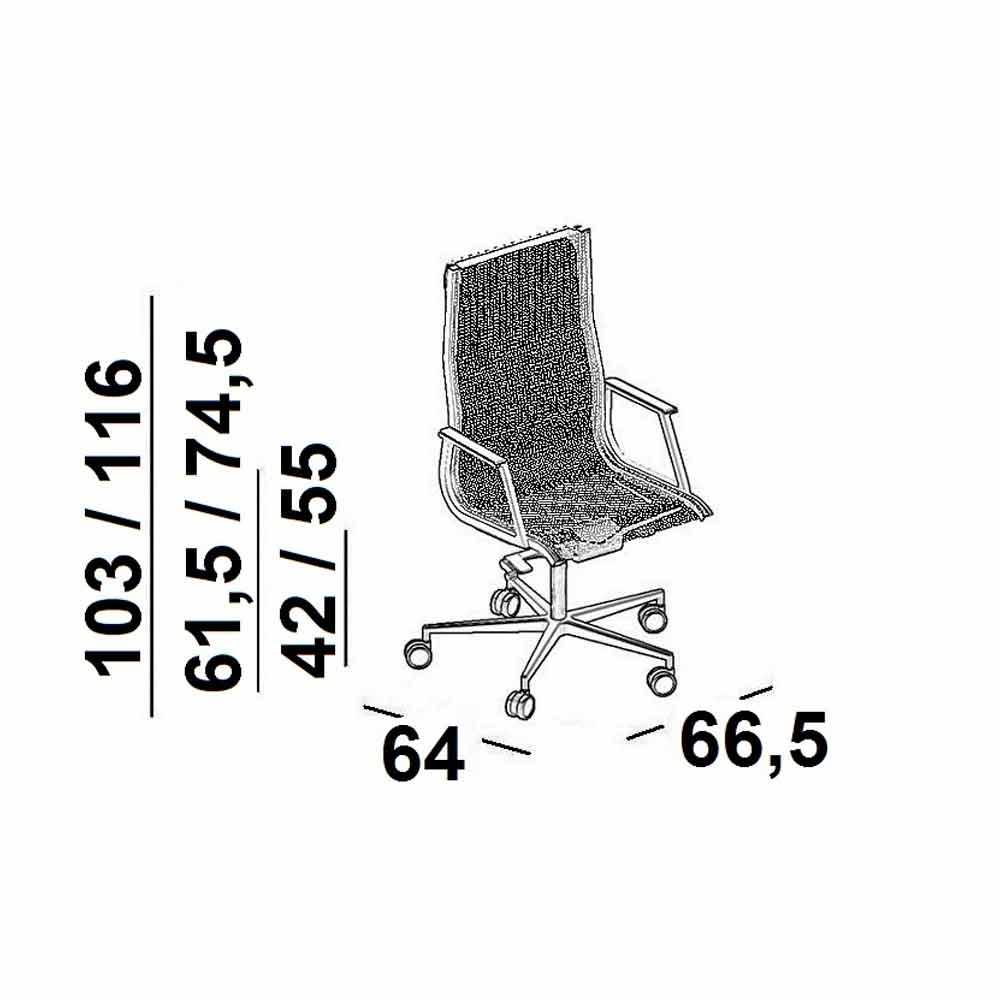 fauteuil de bureau ergonomique haut de gamme nulite par luxy fauteuils de bureau viadurini. Black Bedroom Furniture Sets. Home Design Ideas