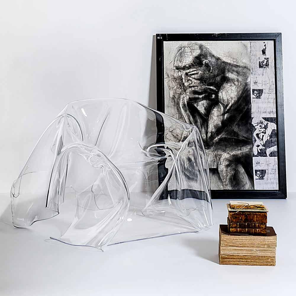 fauteuil en plexiglas transparent paris fait en italie fauteuils viadurini. Black Bedroom Furniture Sets. Home Design Ideas