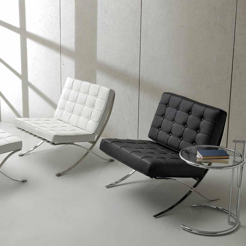 Fauteuil de design morella en cuir ecologique et for Formation decorateur interieur avec fauteuil cuir contemporain