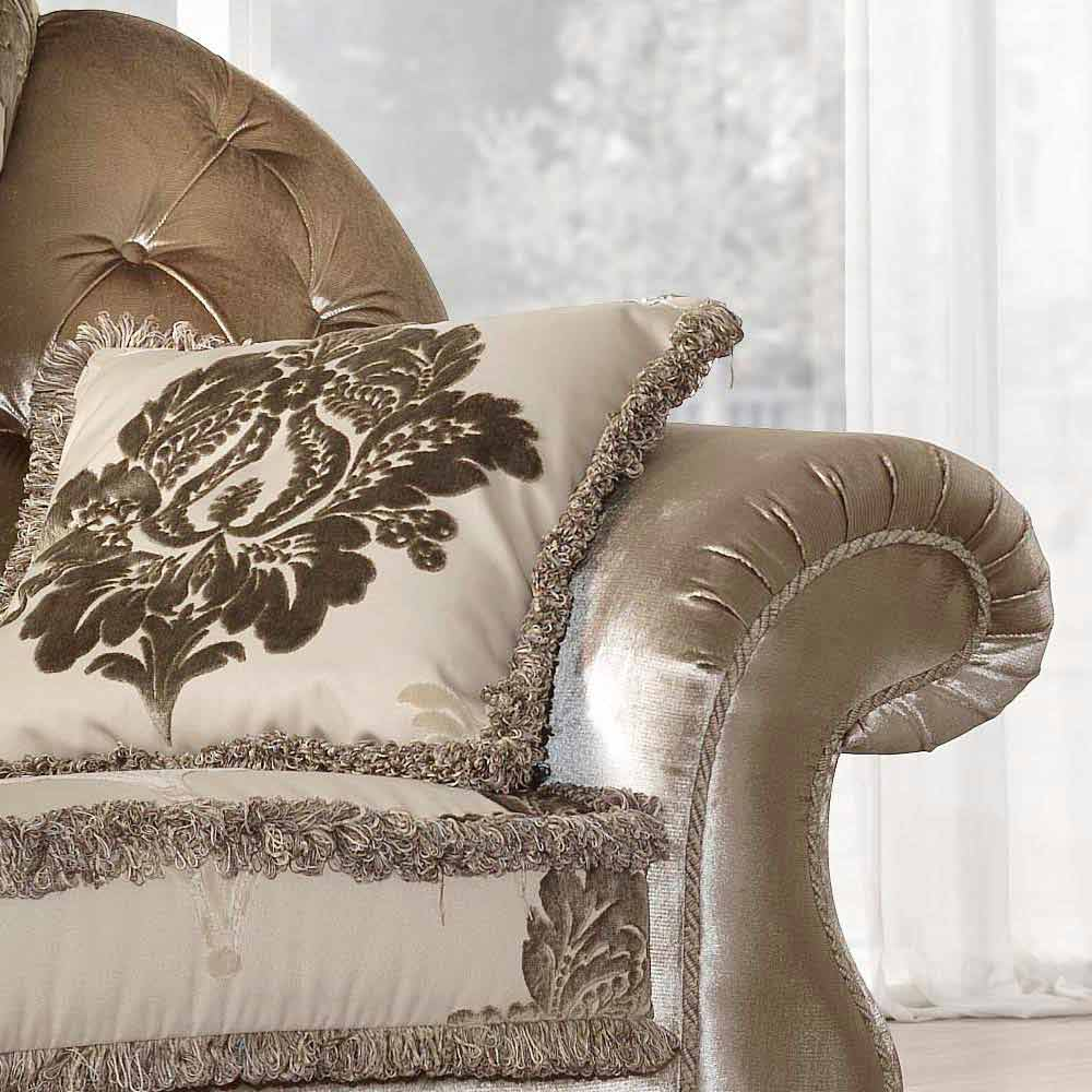 fauteuil de design italien en tissu de style classique liberty. Black Bedroom Furniture Sets. Home Design Ideas