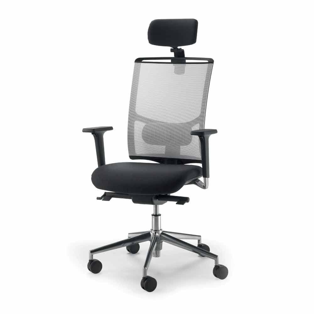 si ge de bureau de design moderne mina en cuir et r sille. Black Bedroom Furniture Sets. Home Design Ideas