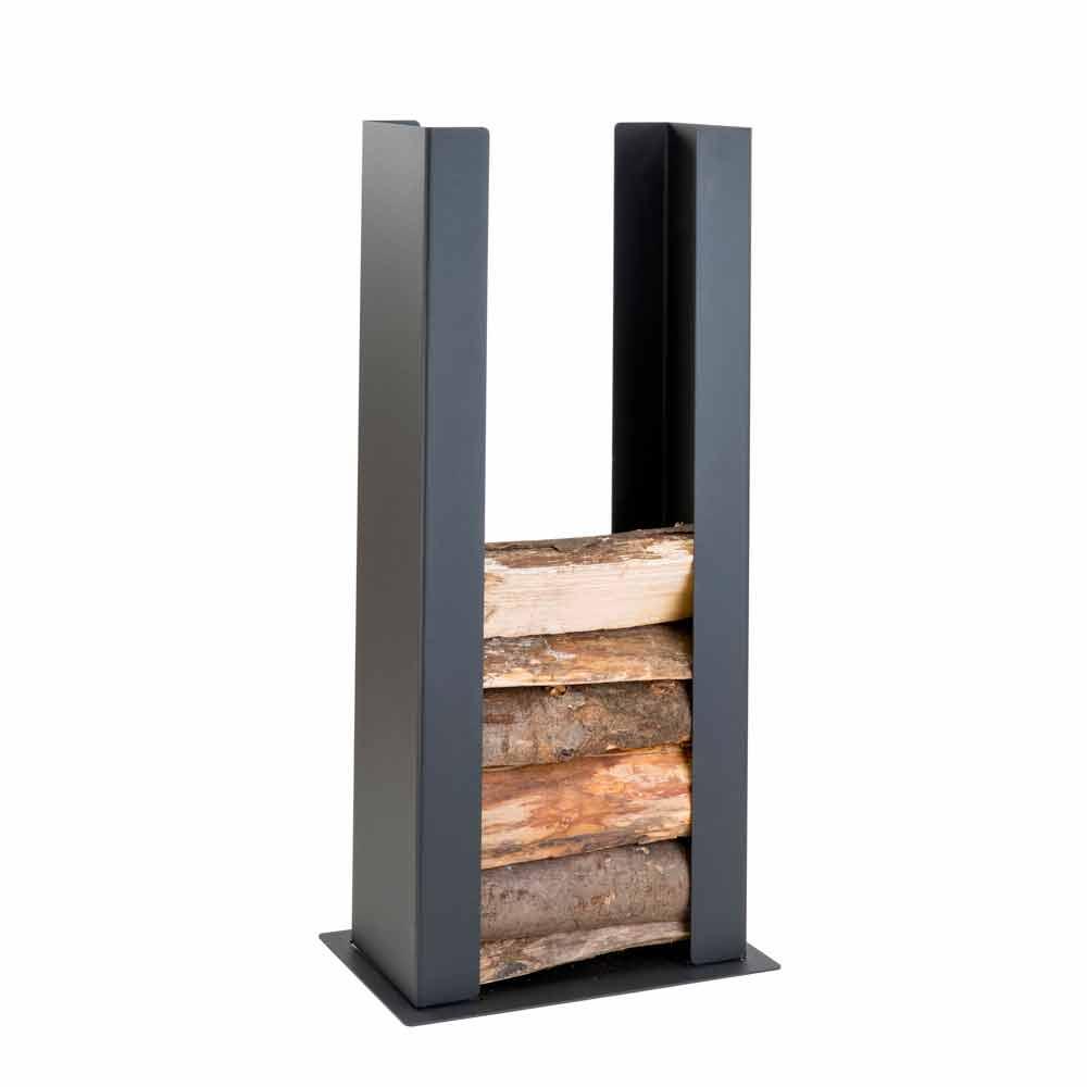 Porte b ches en acier d 39 int rieur de design moderne pldu for Porte buche exterieur