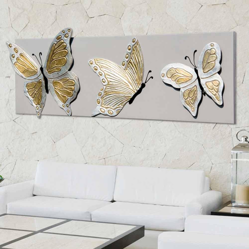 tableau moderne avec papillons en relief d cor la main stephen. Black Bedroom Furniture Sets. Home Design Ideas