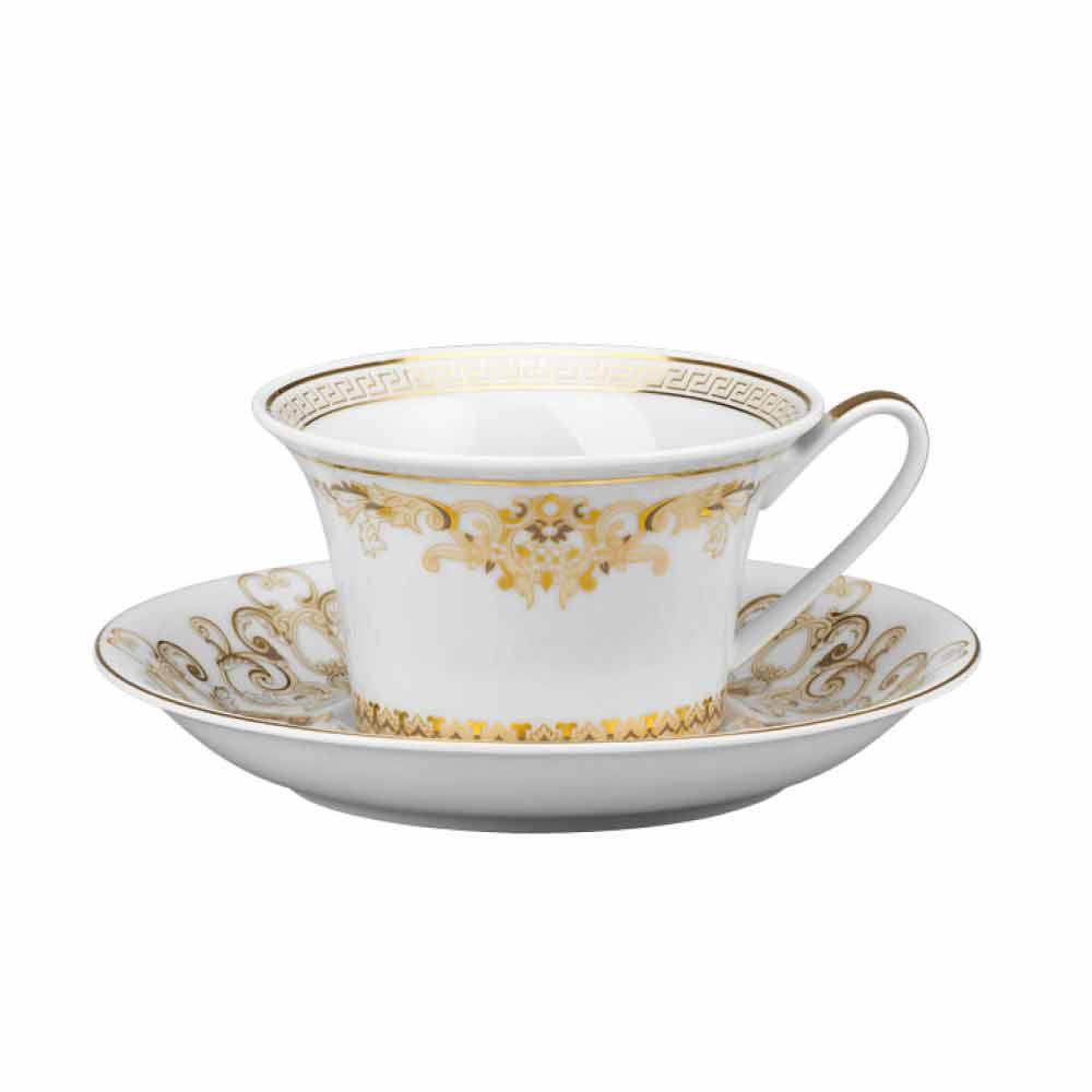 rosenthal versace medusa gala tasse de th en porcelaine 6 pi ces. Black Bedroom Furniture Sets. Home Design Ideas