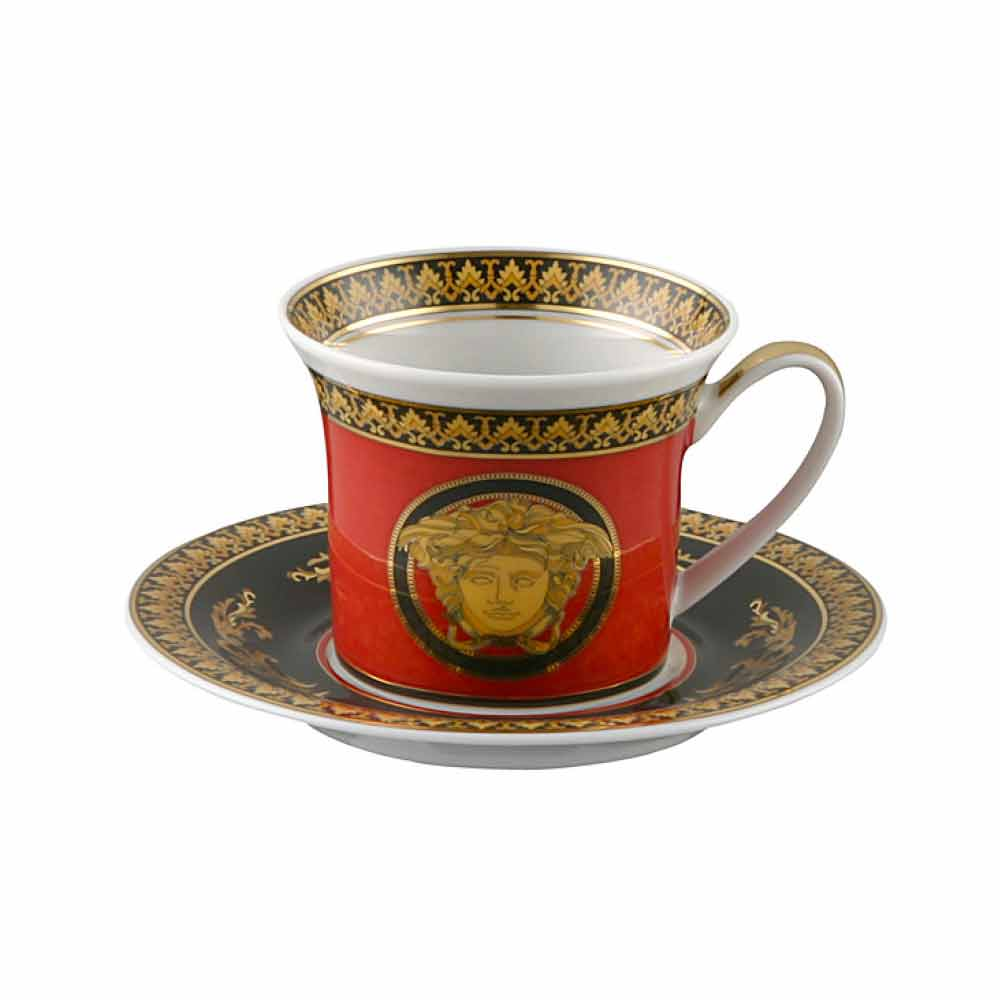 rosenthal versace rouge medusa tasse expresso en porcelaine. Black Bedroom Furniture Sets. Home Design Ideas