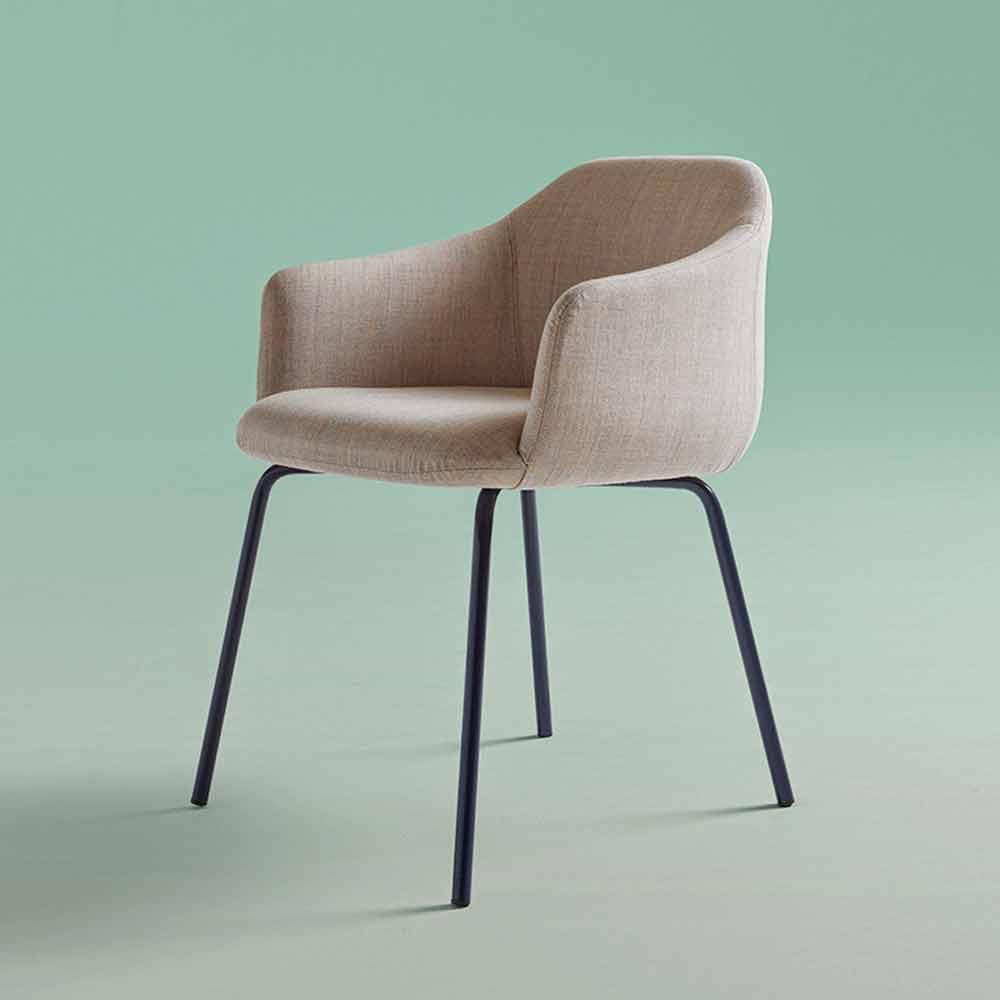 Chaise de salle à manger design moderne fabriquée en Italie - Cloe