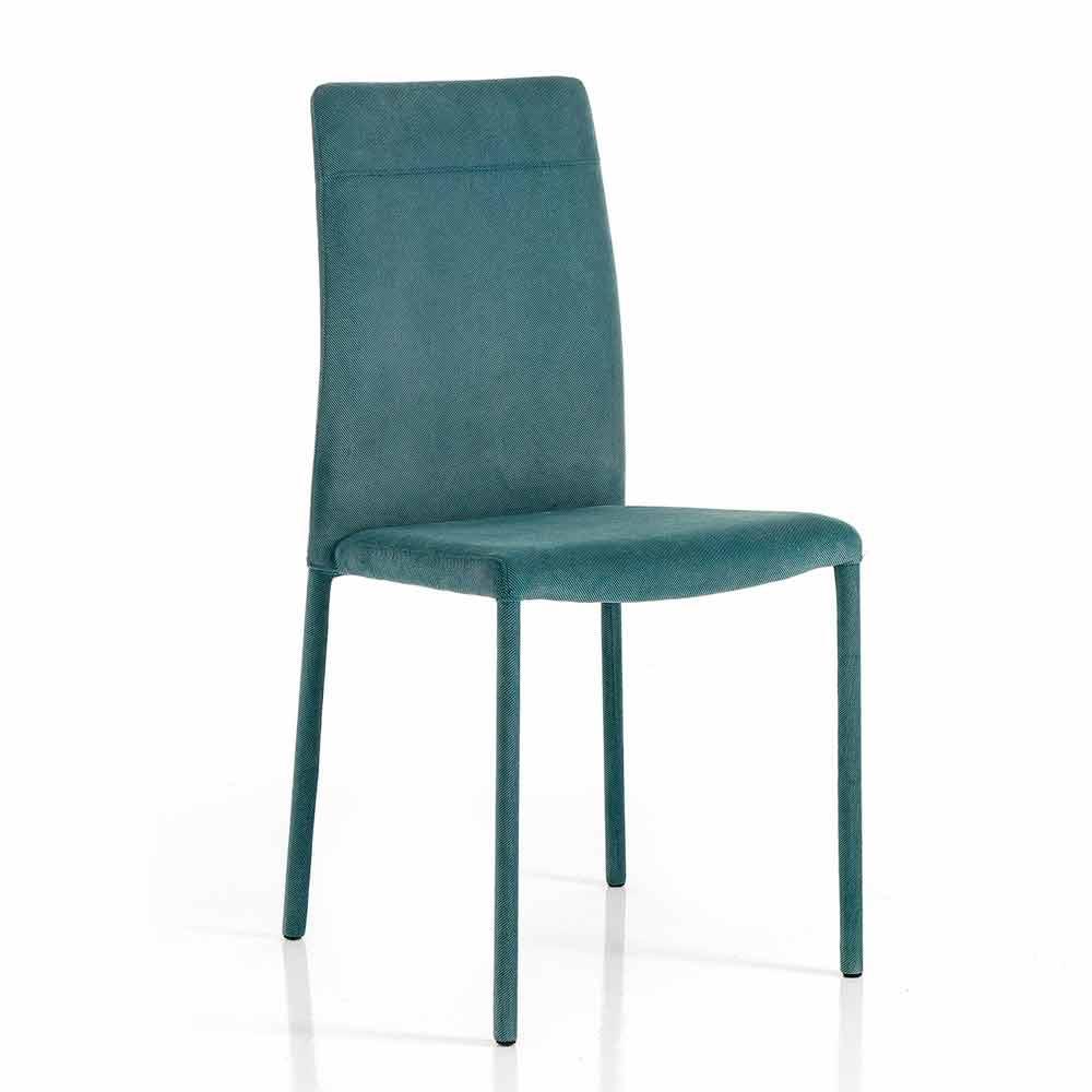 Chaise pour salle à manger moderne en tissu faite en Italie, Porzia