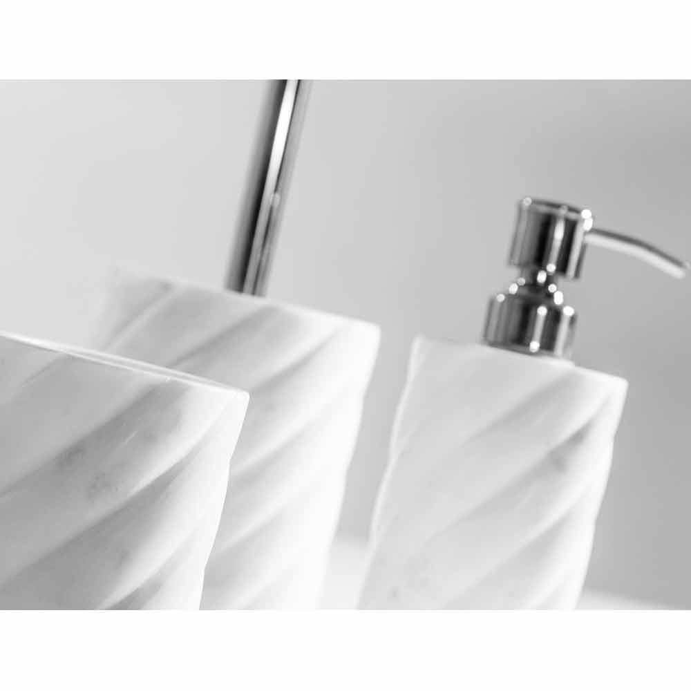 Accessoires de salle de bain modernes en marbre calacatta - Accessoires de salle de bain design ...
