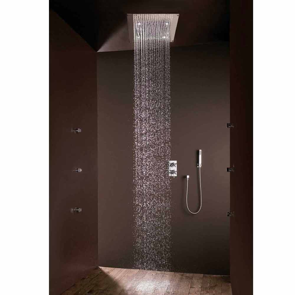 bossini plafond de douche 1 jet jet pluie et lumi res led. Black Bedroom Furniture Sets. Home Design Ideas