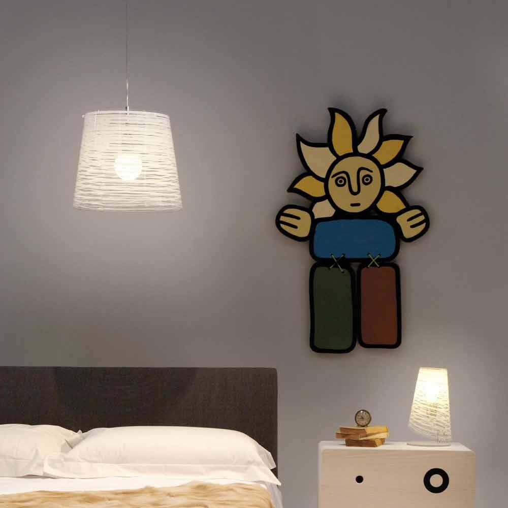 suspension avec d coration color e design moderne diam 30cm shana. Black Bedroom Furniture Sets. Home Design Ideas