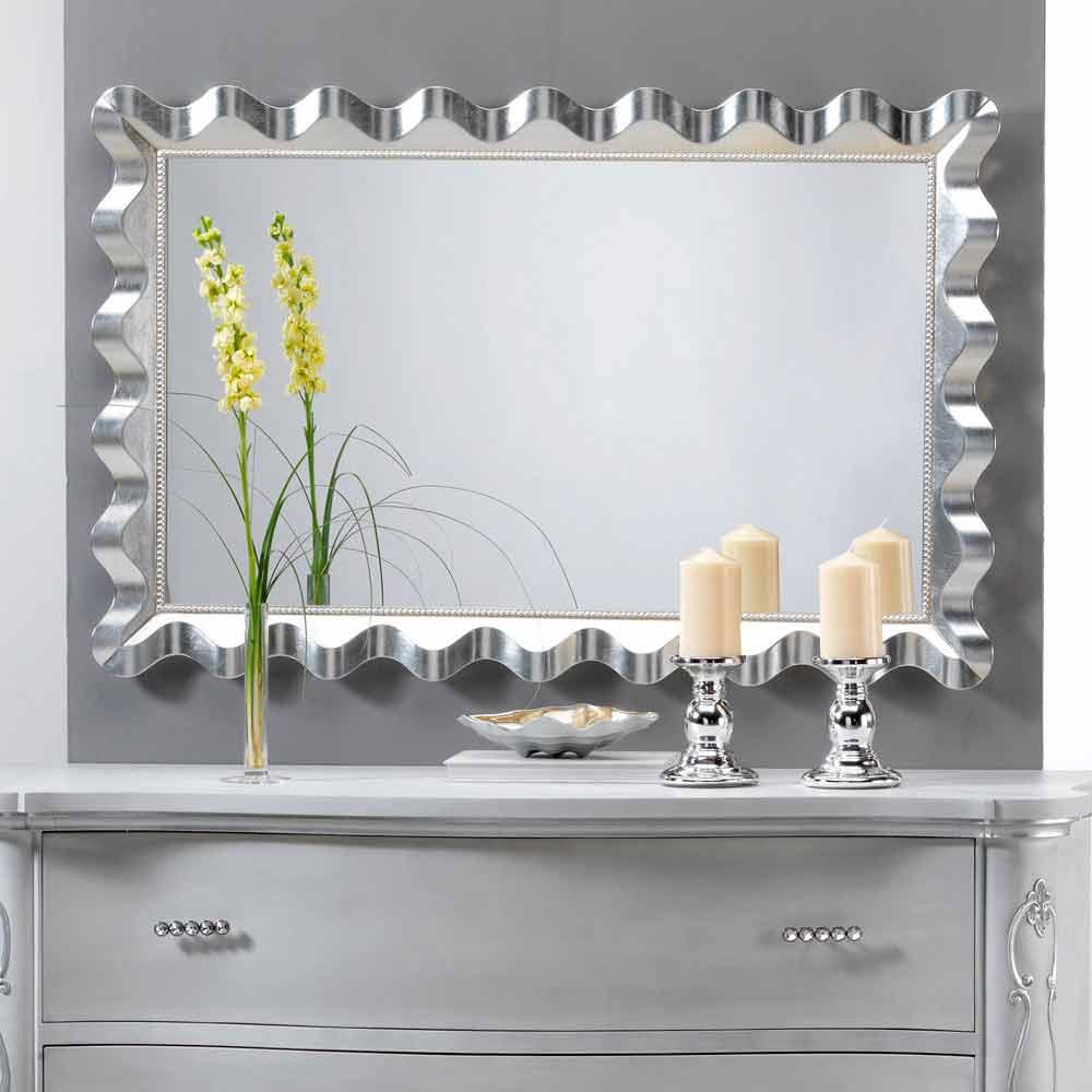 Miroir murale design moderne d cor avec perle lane for Miroir mural moderne