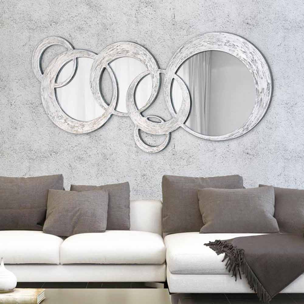 Miroir d coratif mural design italien circles d cor la for Espejos de pared para salon