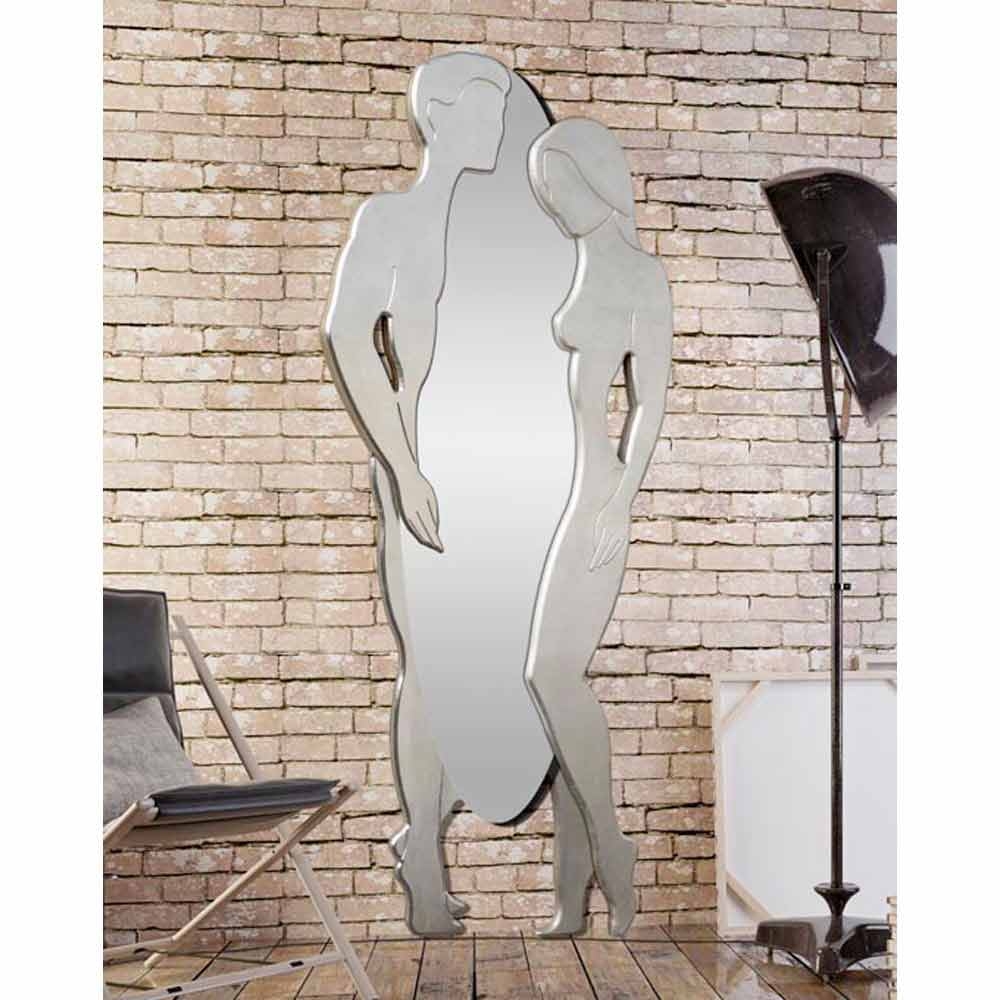 Miroir d coratif mural de design moderne en bois mdf man woman for Miroirs decoratifs design