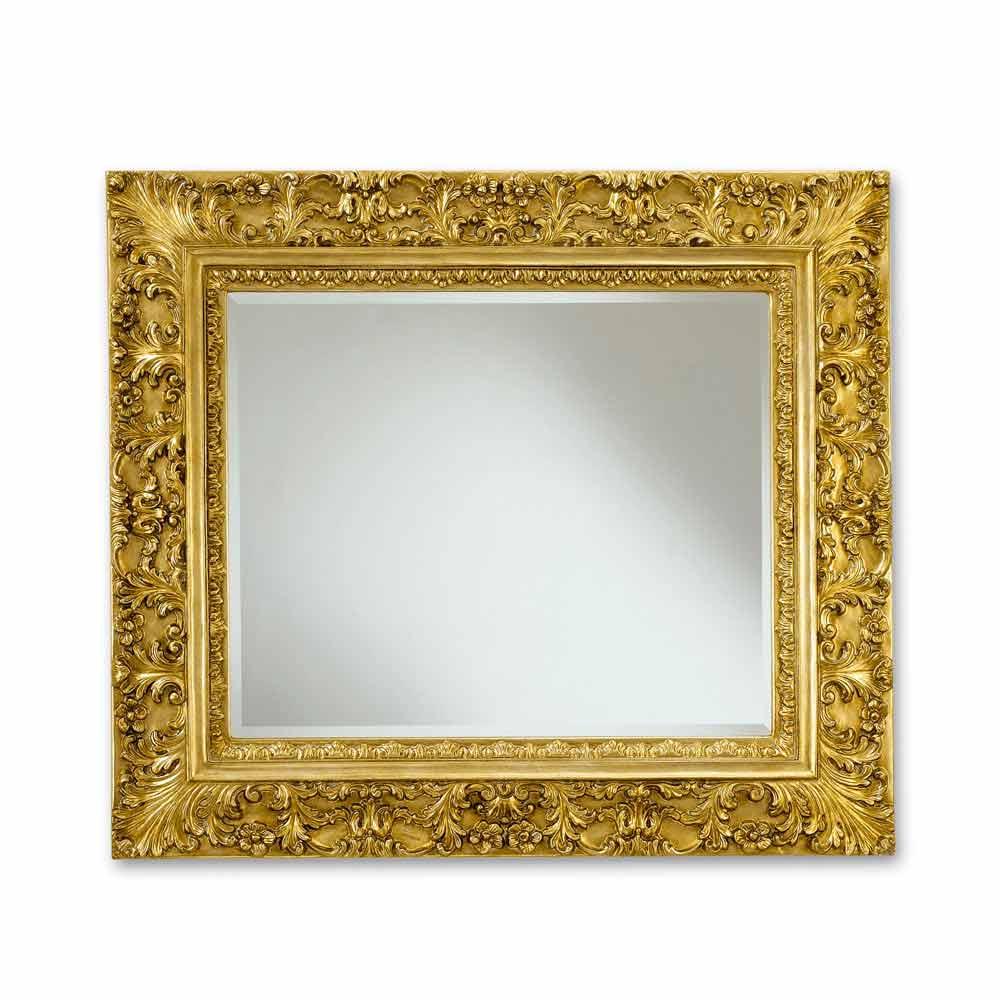 Miroir rectangulaire mural avec d coration floral agasse - Deco avec miroir mural ...
