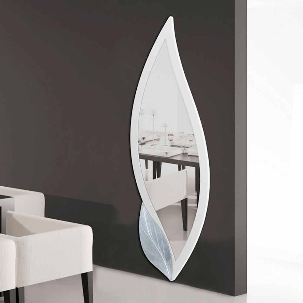 Grand miroir d coratif mural en forme de p tale ellen for Grand miroir decoratif