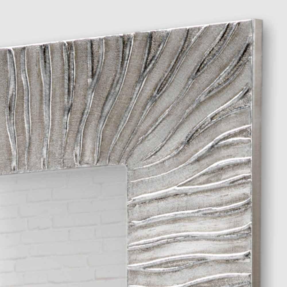 Miroir d coratif mural design italien onde d cor la main for Miroir design italien