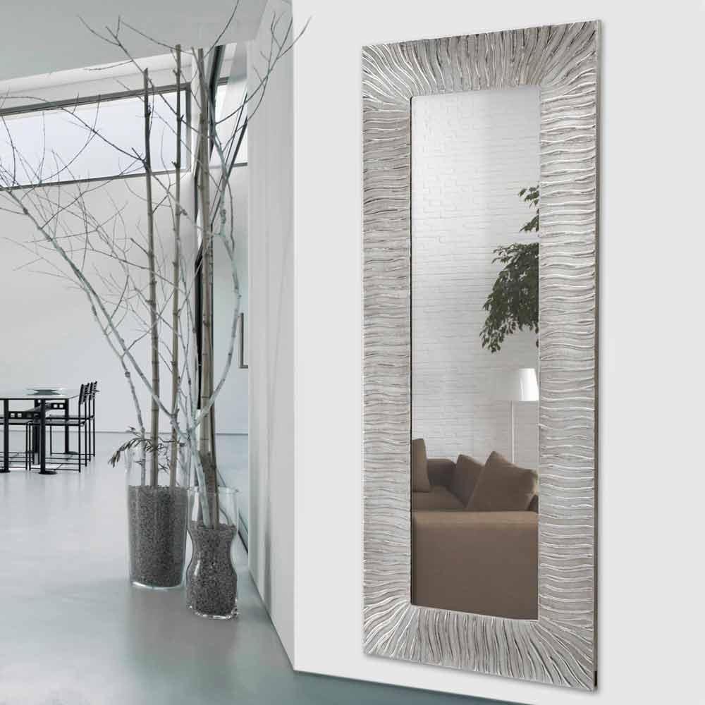 Miroir d coratif mural design italien onde d cor la main for Miroir mural design italien