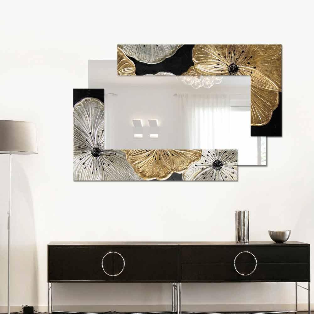 Miroir d coratif mural petit design italien petunia oro for Aquarium decoratif mural