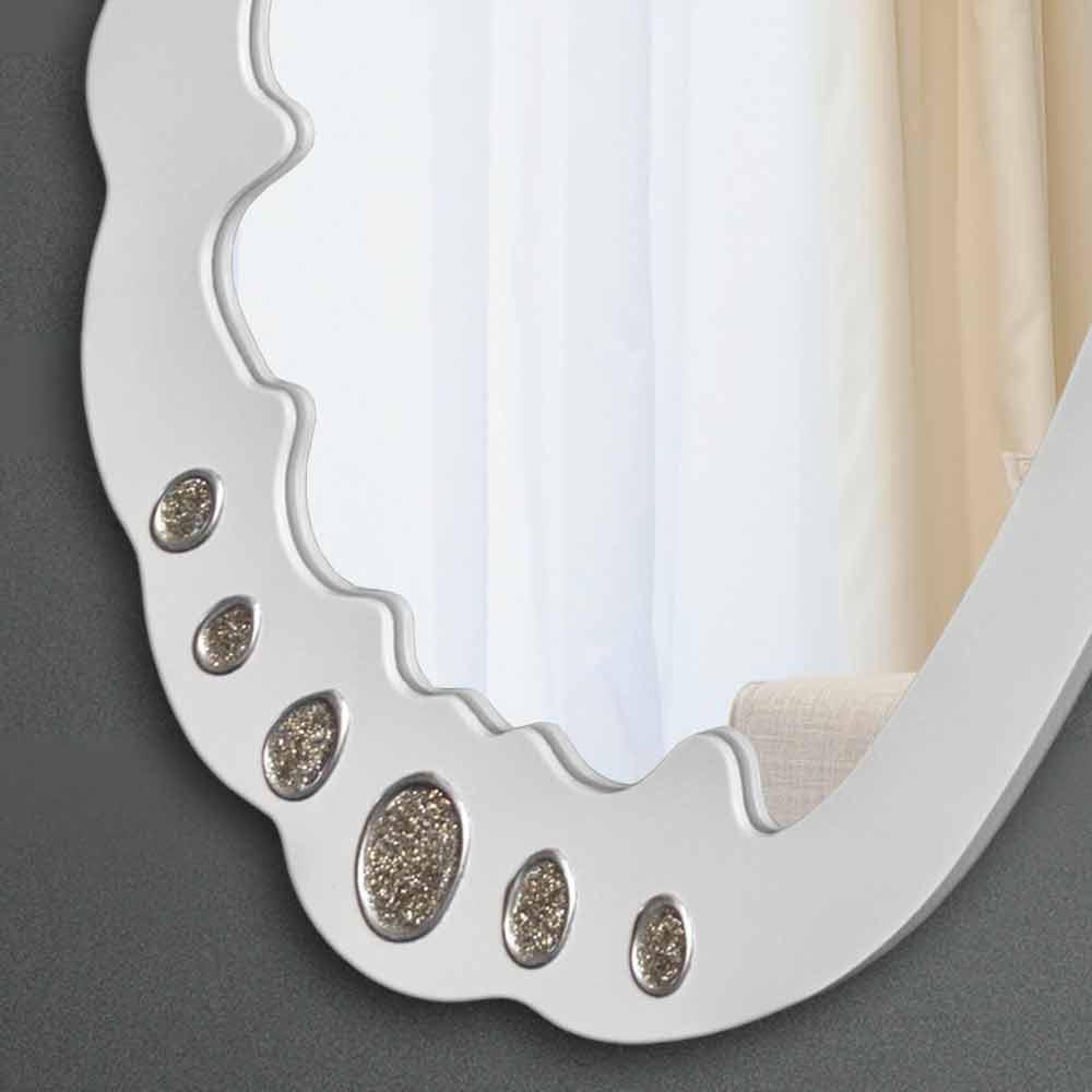 miroir d coratif mural blanc design italien trilli bianca. Black Bedroom Furniture Sets. Home Design Ideas