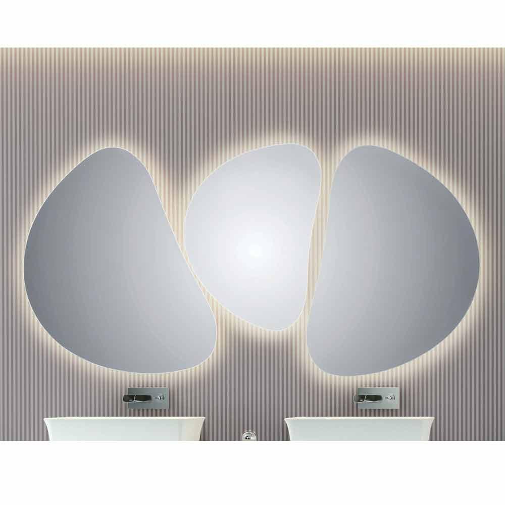 Miroir mural de salle de bains avec r tro clairage led pirro for Salle de bain avec led