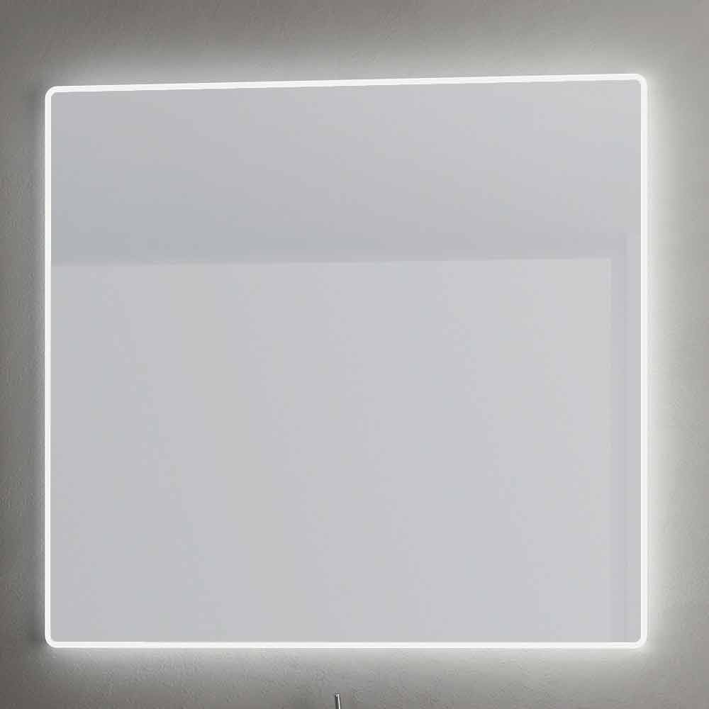 Miroir mural avec bords satin s clairage led tessa for Eclairage miroir led