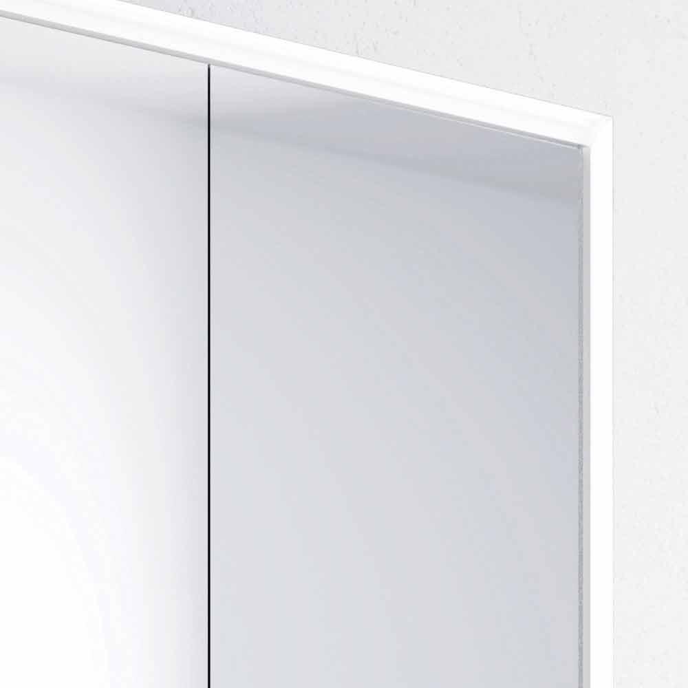 Miroir mural moderne 2 portes clairage led adele for Miroir moderne